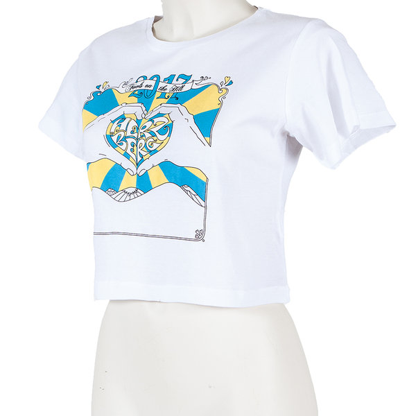 Shirt Woman 2017 Weiß-Blau