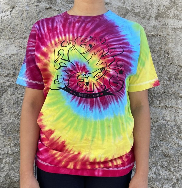 "Tie-Dye  Tshirts  ""Together by Heart"" Bunt"
